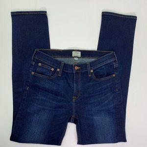 J Crew Jeans Size 28 Matchstick Dark Wash Mid Rise
